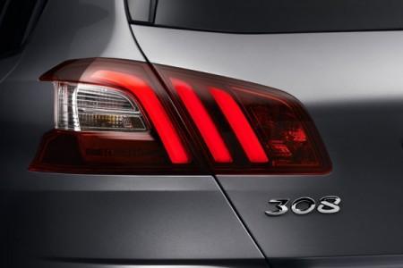 Tylne światła Peugeota 308